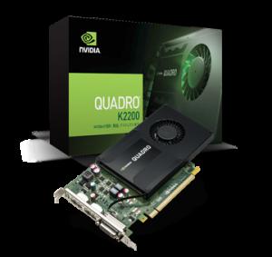 NVIDIA Quadro K2200 4GB DVI /& Dual Display 3 Ports  Computer Video Graphics Card